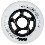 POWERSLIDE Spinner Wheels 84mm/85A White 4-Pack
