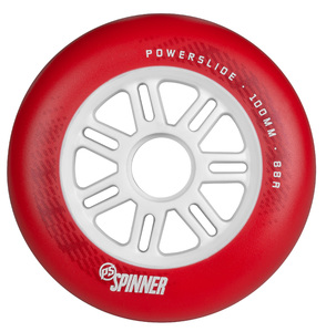 POWERSLIDE Spinner Wheels 100mm/88A Red