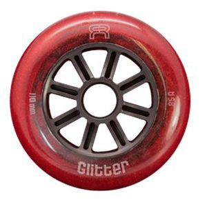 FR Glitter Wheels 110mm/85A Red