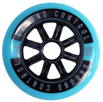 GROUNDCONTROL Tri-Skate Wheels 110mm/85A Turquoise/Black  3-Pack