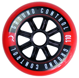 GROUNDCONTROL Tri-Skate Wheels 110mm/85A Red/Black  3-Pack
