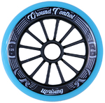 GROUNDCONTROL Tri-Skate Wheels 125mm/85A Turquoise/Black 3-Pack